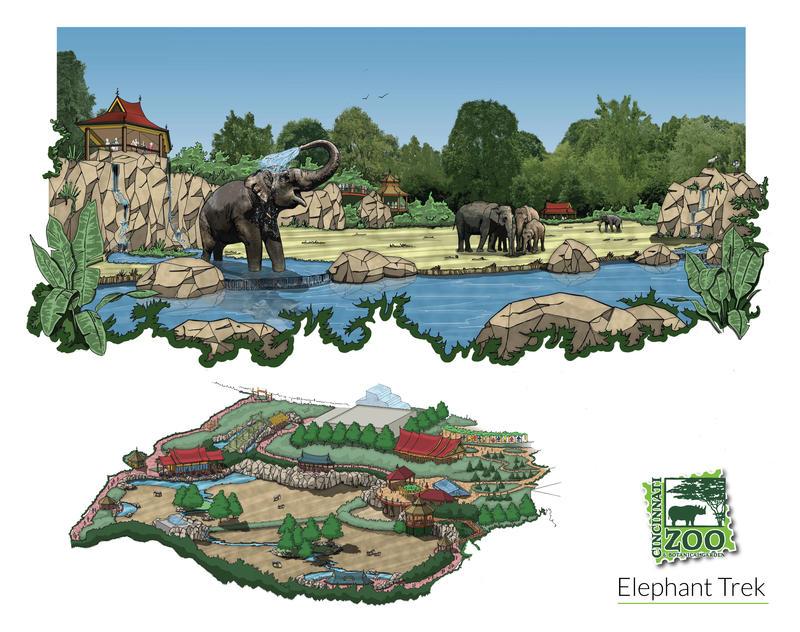 Artist rendering of new elephant yard.