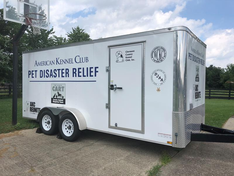 The Tri-State County Animal Response Team says this AKC Reunite Pet Disaster Relief Trailer will help them respond to events like flooding earlier this year in New Richmond, Ohio.