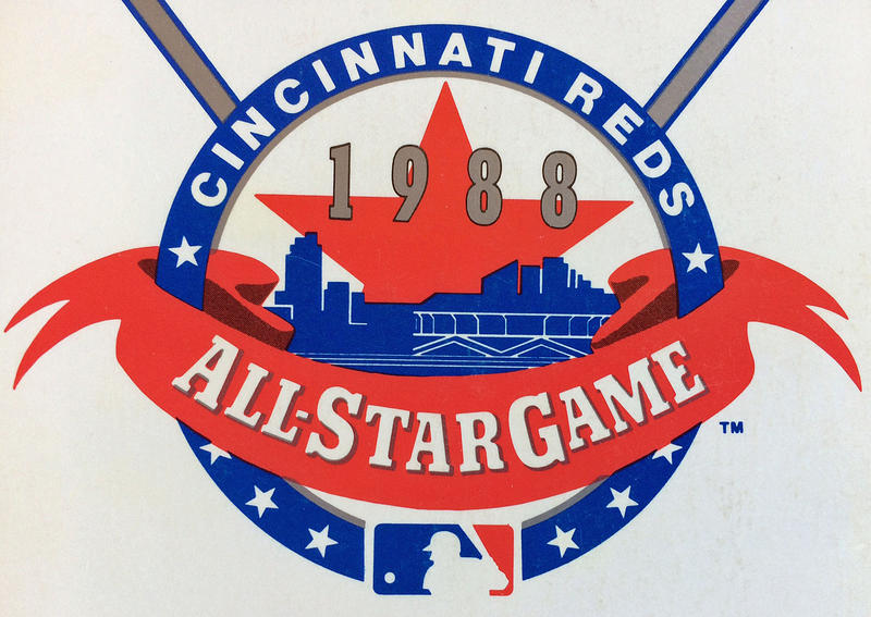 The 1988 All-Star Game logo was featured on the Reds media guide cover in 1988.