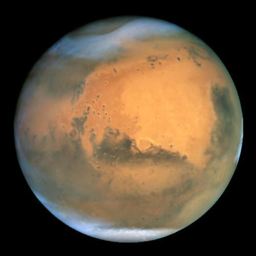 The Hubble Space Telescope captured this image of Mars in 2001, when the planet was 43 million miles from Earth. This month Mars will be within 36 million miles of Earth.