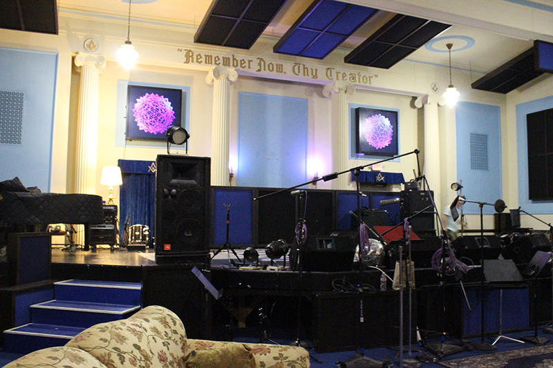 'The Blue Room' at The Lodge provides an excellent performance and recording space for a variety of acts.