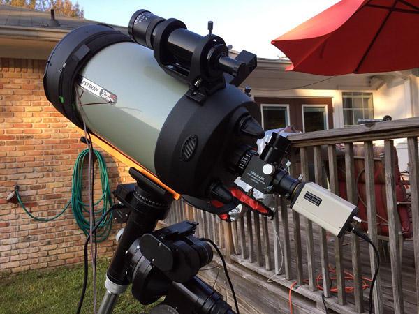 A Mallincam astronomy video camera for EAA in a CelestronEdgeHD telescope