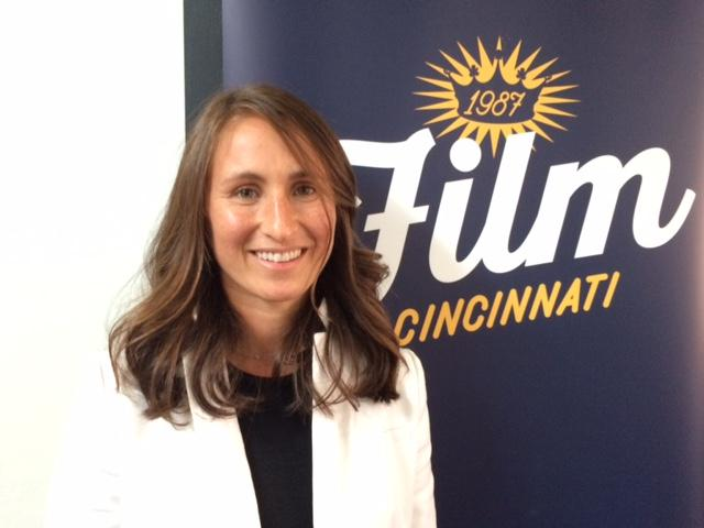 Producer Johanna Byer at the Film Cincinnati press conference announcing the 'Point Blank' movie production.