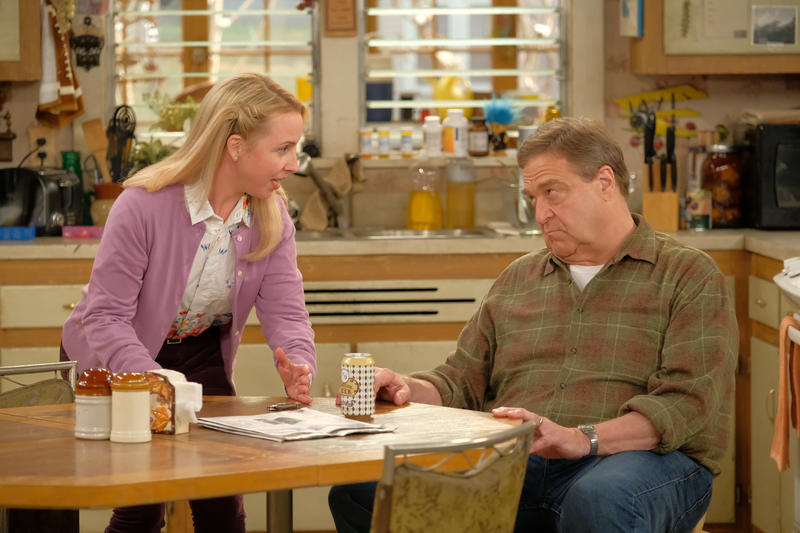 "Lecy Goranson (Becky) and John Goodman (Dan) will be back on ABC when ""Roseanne"" without Roseanne Barr morphs into ""The Conners"" Oct. 16."