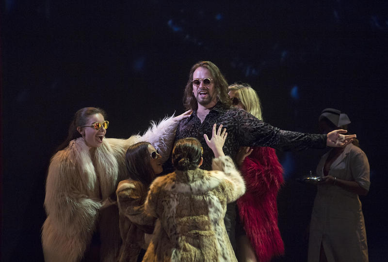Pink (Nathan Keoughan) enjoys the attention of his groupies in Cincinnati Opera's U.S. premiere of 'Another Brick in the Wall -- The Opera.'