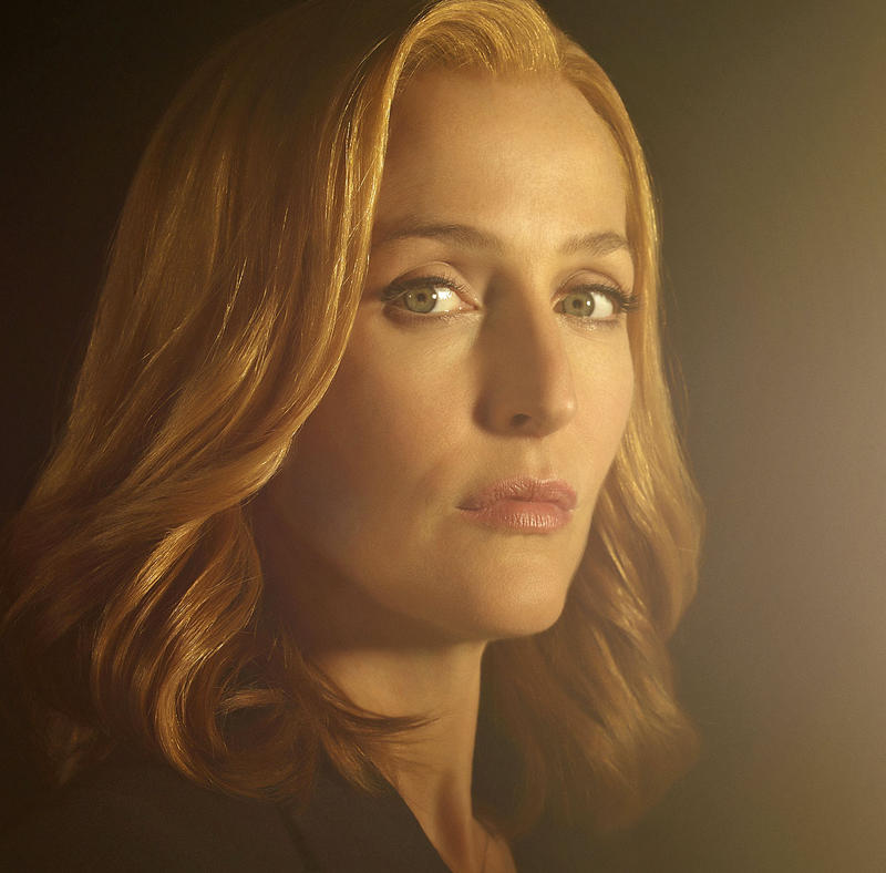 "Gillian Anderson stars in ""UFO,"" filmed here last December."