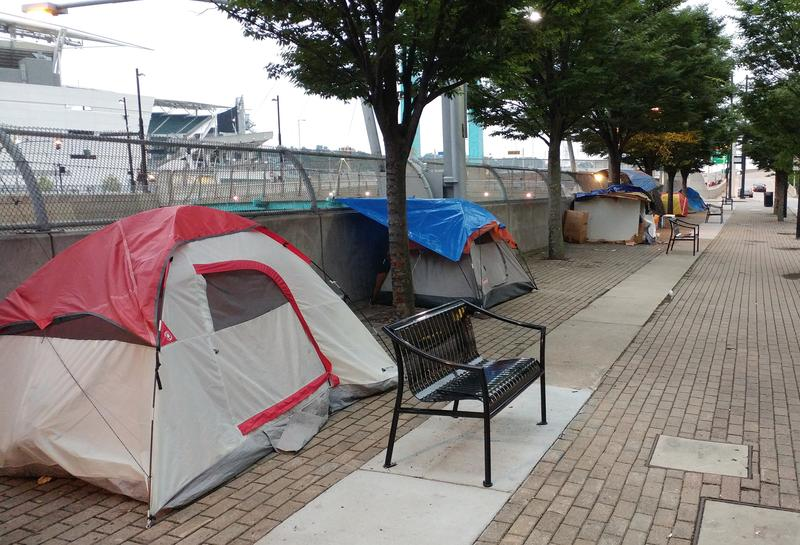 third street homeless camp