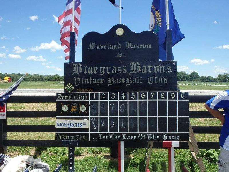 The Lexington Bluegrass Barons Score Board from the 2017 Waveland Cup.