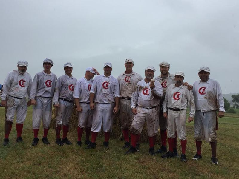 The 1869 Cincinnati Red Stockings at the 2018 National 19th Century Base Ball Festival in Gettysburg, Pa.