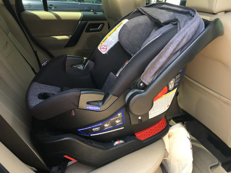 A sensor fits behind the padding in the car seat and when the driver gets out it will send a notifiction to their phone that they have a child in the backseat.