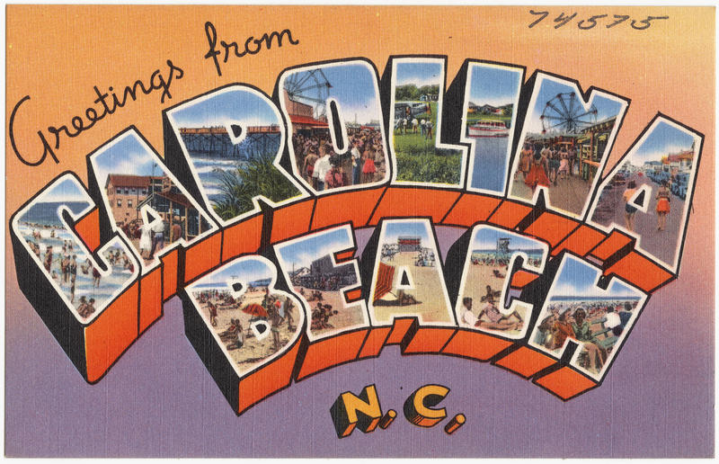 carolina beach postcard