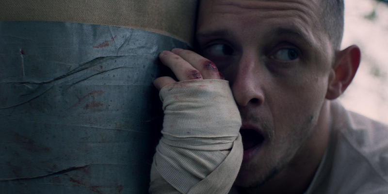 "Jamie Bell plays ""Jarhead Earl,"" father of two, in ""Donnybook."""