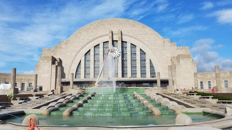 The Cincinnati Musuem Center is showing off its new and improved fountain Thursday. It was reconstructed as part of the Union Terminal restoration set to conclude in November.