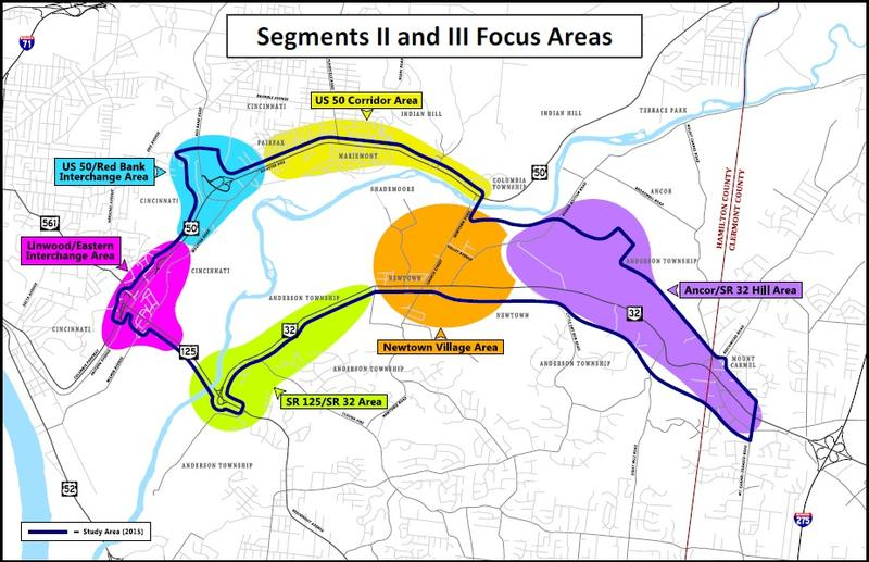 The open houses will focus on improvement concepts for the six highlighted areas.