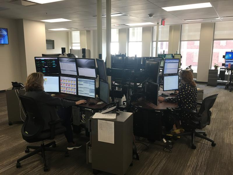 Nurses and doctors monitor dozens of computer screens at all hours of the day and night from Cincinnati to take care of critially ill patients at government hospitals nationwide.
