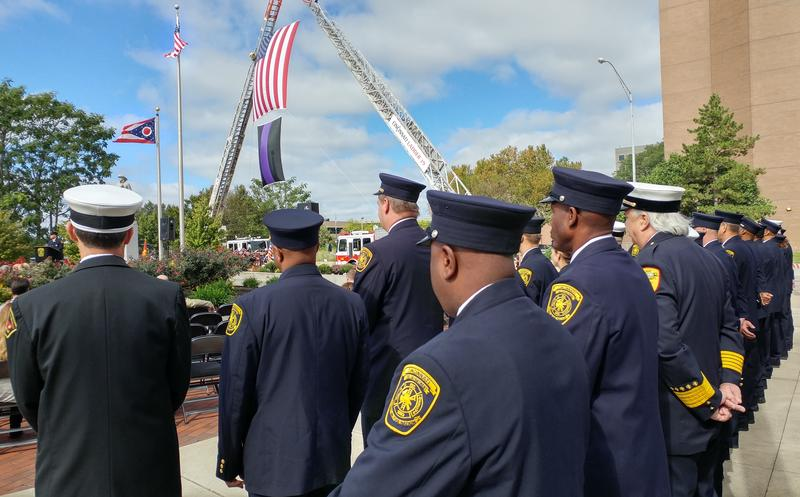 The Greater Cincinnati Firefighters Memorial Service is held each fall at the Firefighters Memorial Park on Central Avenue.