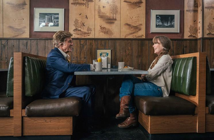 Forrest (Robert Redford) and Jewel (Sissy Spacek) grab a meal at the Blue Jay Restaurant in Northside.