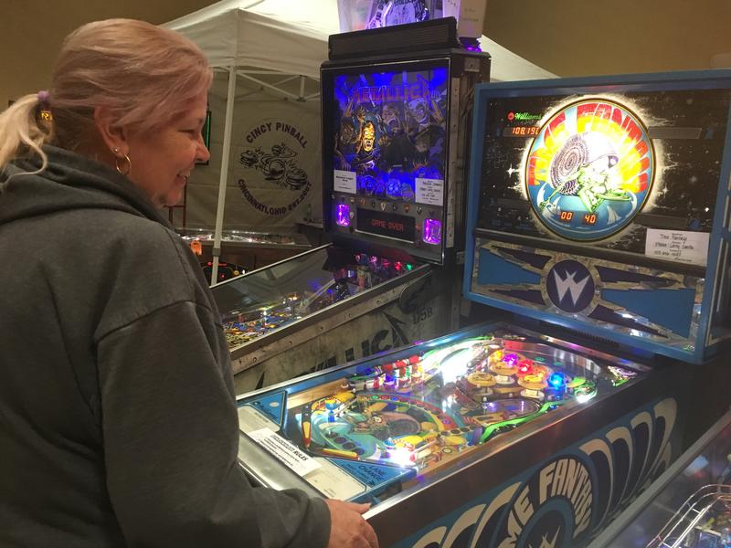 Phoebe Smith plays at least one pinball game a day. With 57 of them at her house she doesn't have trouble finding one.