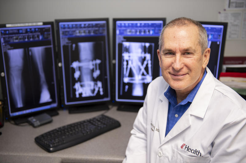 John Wyrick, MD, a professor of orthopaedic surgery and a UC Health physician, is using a titanium rod with a magnetic motor to lengthen limbs.