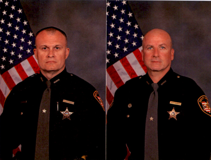 Detective Bill Brewer (left) was killed, and Lt. Nick DeRose was wounded, Saturday night in Pierce Township.