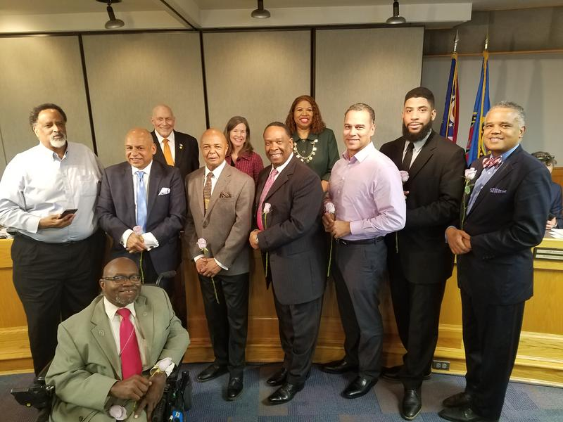 Hamilton County commissioners honored nine African-Americans for their service to the community during the first county Black History Month celebration.