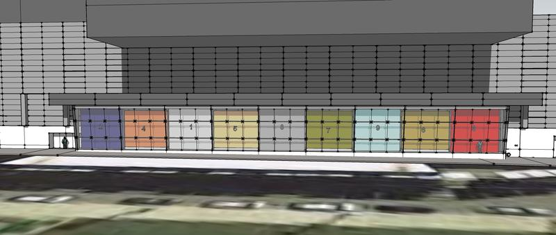 An artist rendering of where the nine murals will be displayed along Central Avenue.