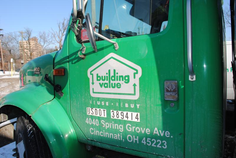 Building Value will sell the recovered building materials in its retail outlet.