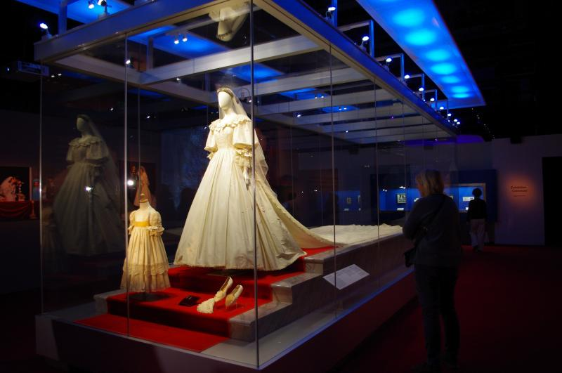 The centerpiece of the Princess Diana exhibit - her wedding gown.