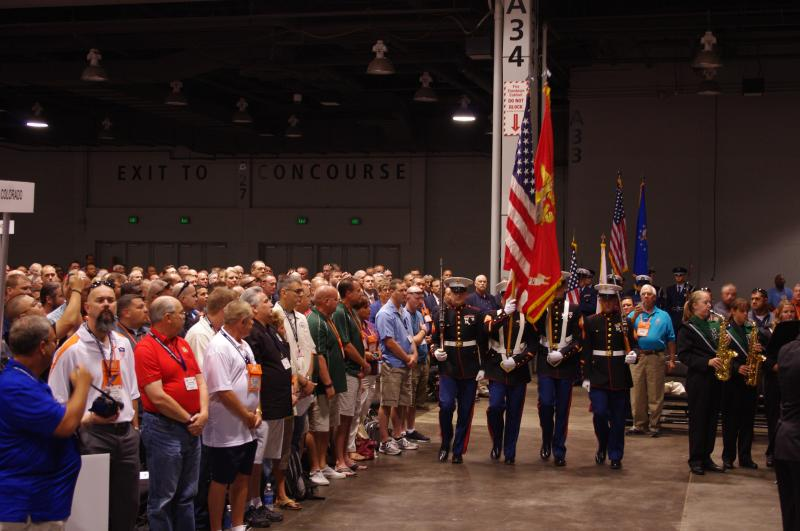 Each branch of the military provided an honor guard to post the colors.