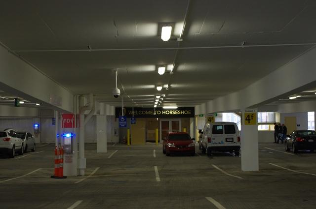 Inside Parking Garage