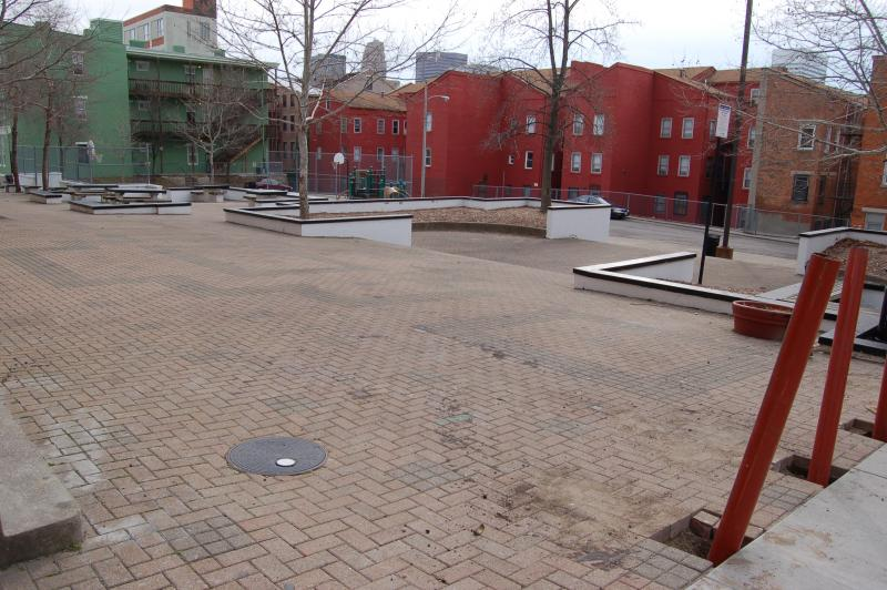 This plaza in front of Pendleton's Verdin Bell Events Center is next on the city's beautification list.