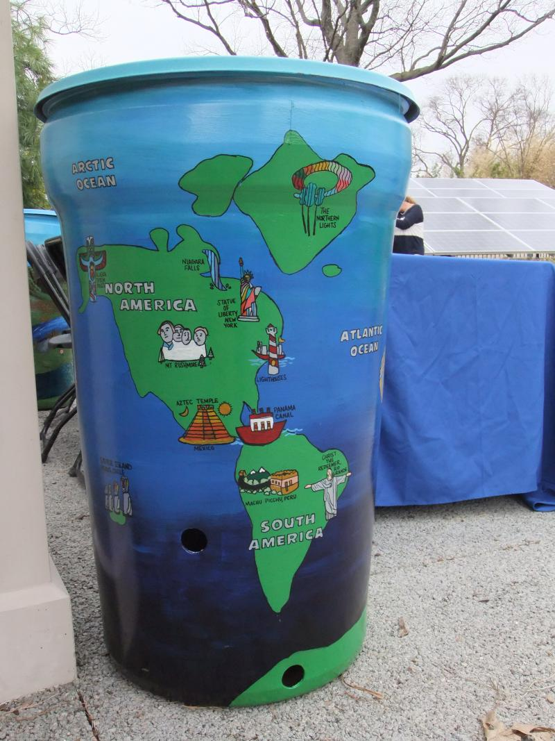 Global rain barrel.
