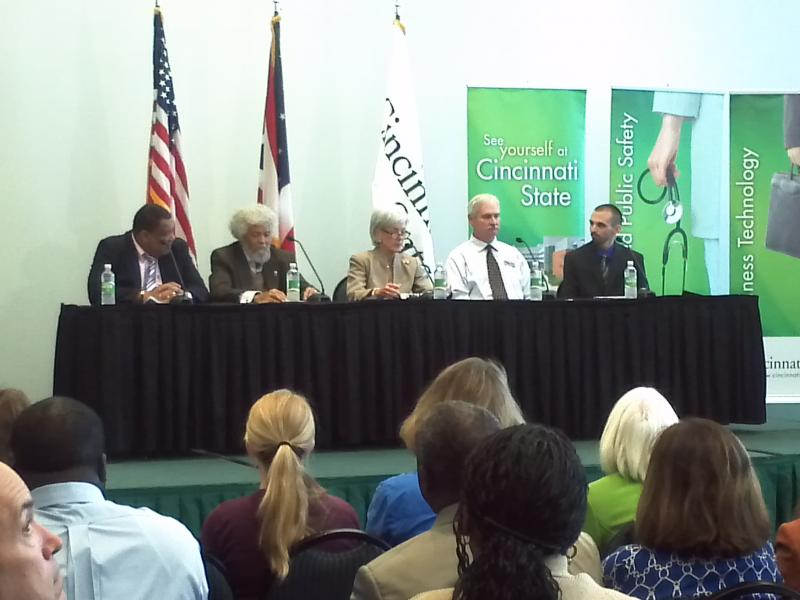 Health and Human Services Secretary Kathleen Sebelius at Cincinnati State