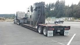 A transporation company owned by a sub vet donated his services to drive the sail from Washington to Cincinnati.