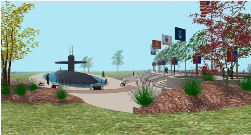 Rendering of how the submarine memorial might look.