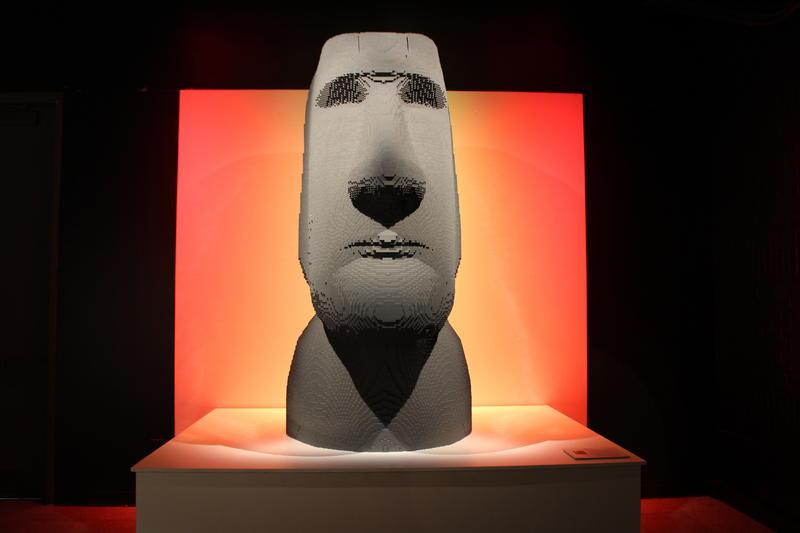 """Moai"" is created from 75,450 bricks."