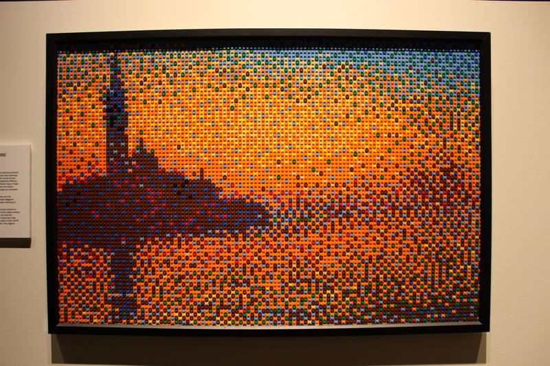 """The display includes original pieces and recreations of masterpieces such as """"San Giorgio Maggiore at dusk."""""""