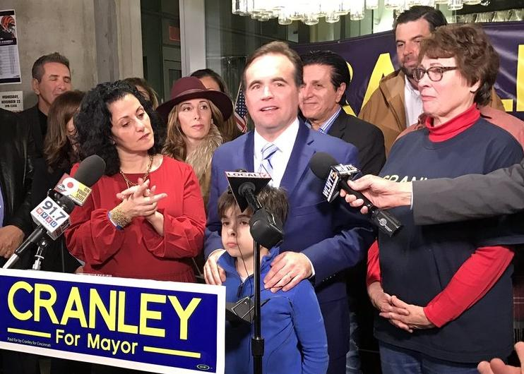 Mayor John Cranley was re-elected to lead the city for another four years.