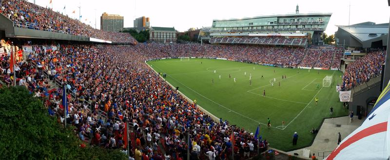 FC Cincinnati fans packed Nippert Stadium July 16, 2016 for a match against English Premier League team Crystal Palace.