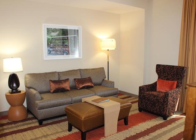The Homewood Suites are geared more toward extended stay and are larger with a homey feel.