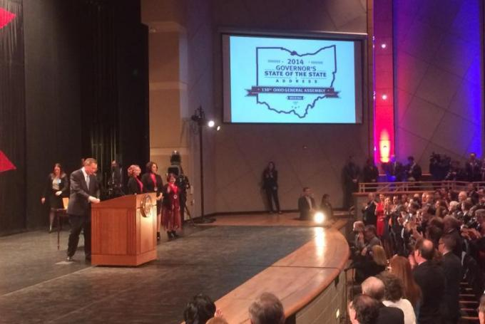 Gov. Kasich awarded  the 2014 Ohio Courage Medals to Amanda Berry, Gina DeJesus and Michelle Knight.