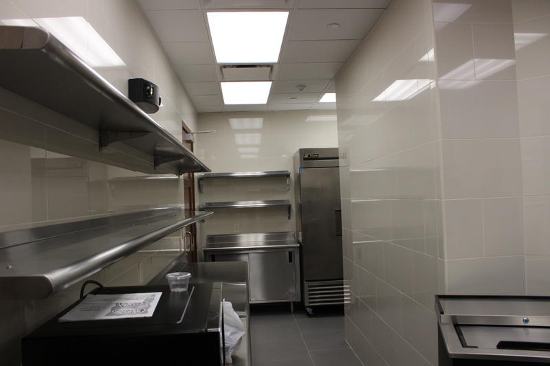 The new catering kitchen.