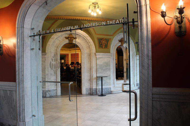 The theater has been renamed the Annie W. and Elizabeth M. Anderson Theater.