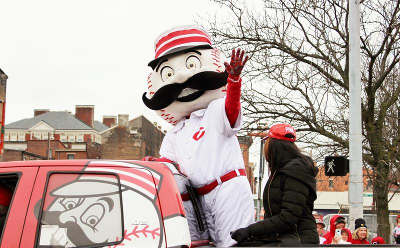 Mr. Redlegs is hitching a ride on the back of a truck for this year's parade.