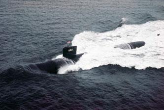 Government image of the USS Cincinnati at sea.