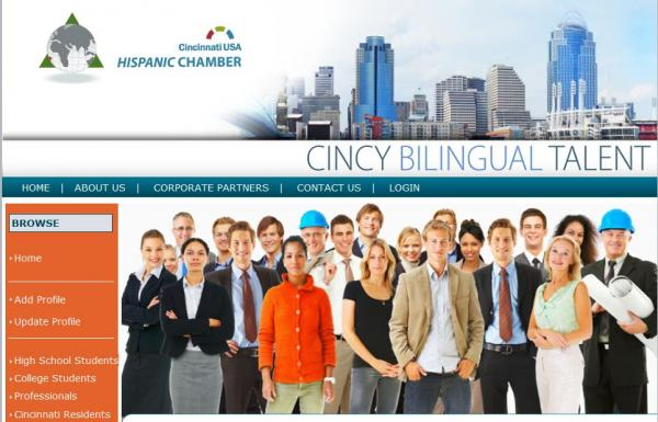 Screen capture from The Cincy Bilingual Advantage web project.