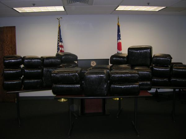 The Butler County Sheriff's Department shows off it's recent pot haul