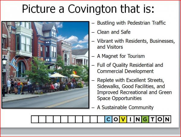 Part of Covington City Manager Larry Klein's powerpoint presentation on the budget.