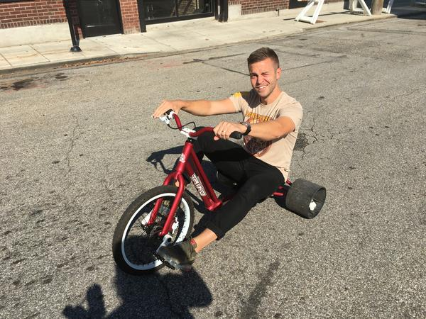 4d490eefb3a The bikes have been modified and they are not the plastic kid's version you  are used to seeing. Salzbrun says they would break apart given the size of  the ...
