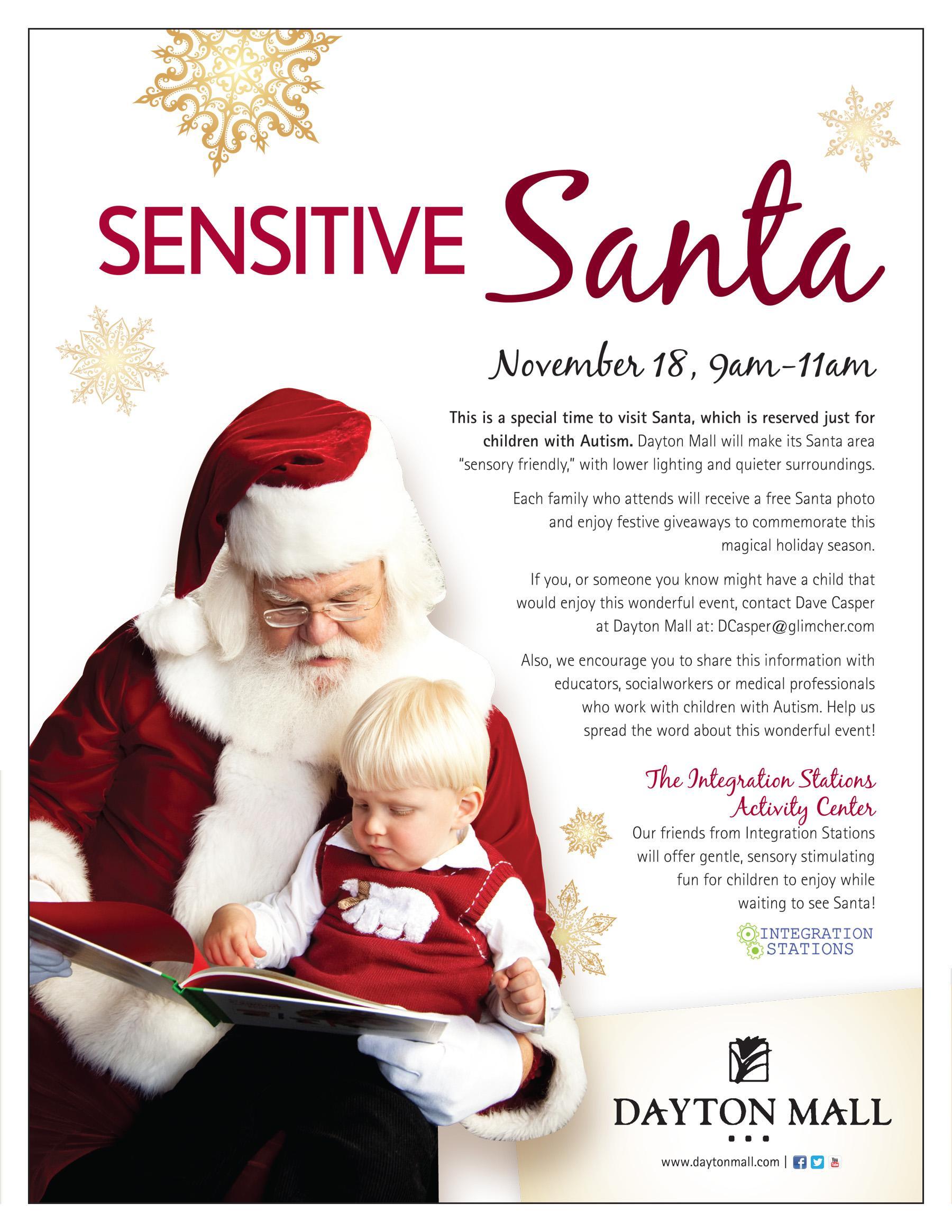 Sensitive Santa brightens holidays for autistic children | WVXU